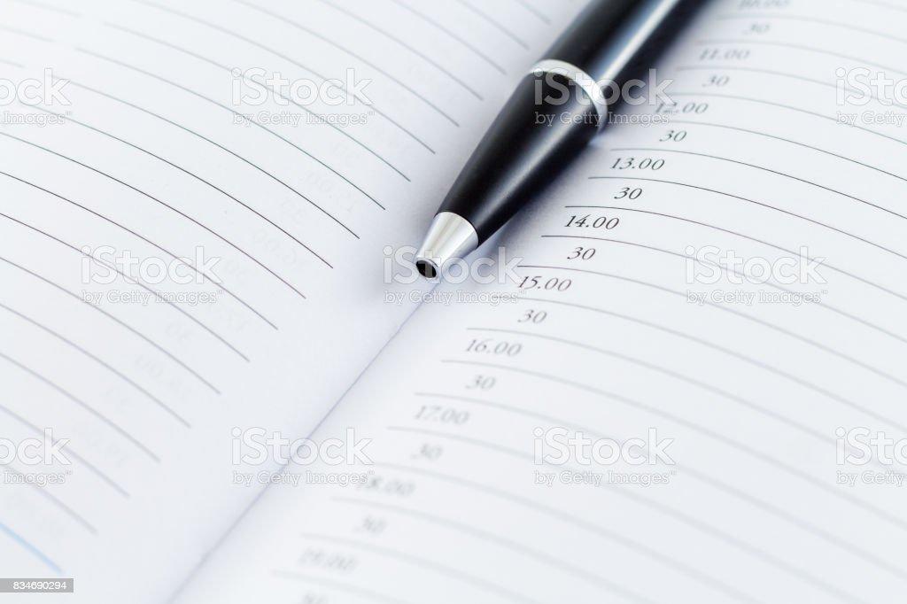 Agenda Diary Planner stock photo