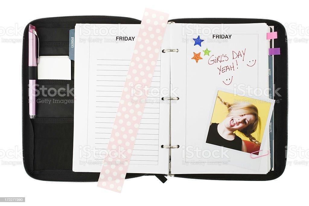 Agenda - Happy Friday royalty-free stock photo