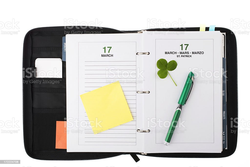 Agenda - special day royalty-free stock photo