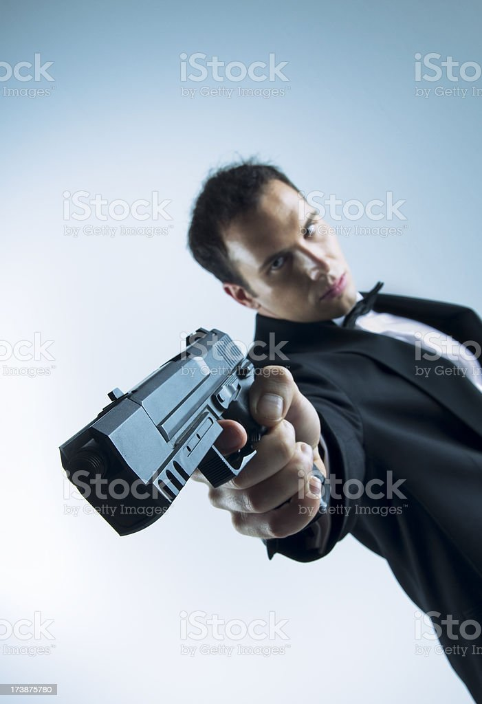 Agent 007 royalty-free stock photo