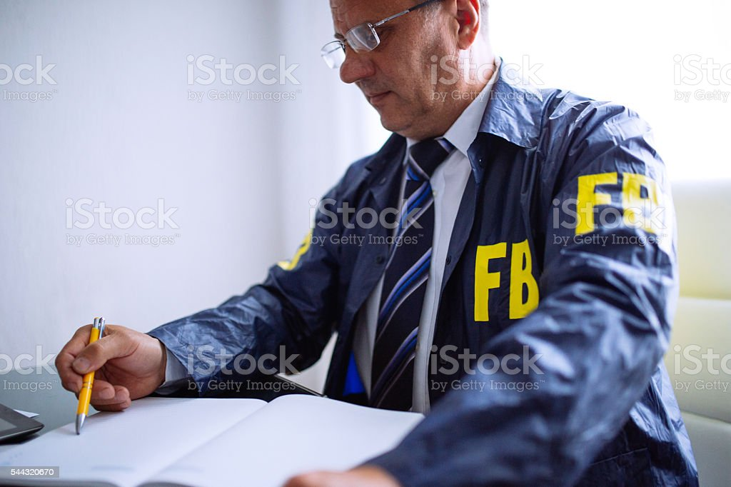 Agent at his office stock photo
