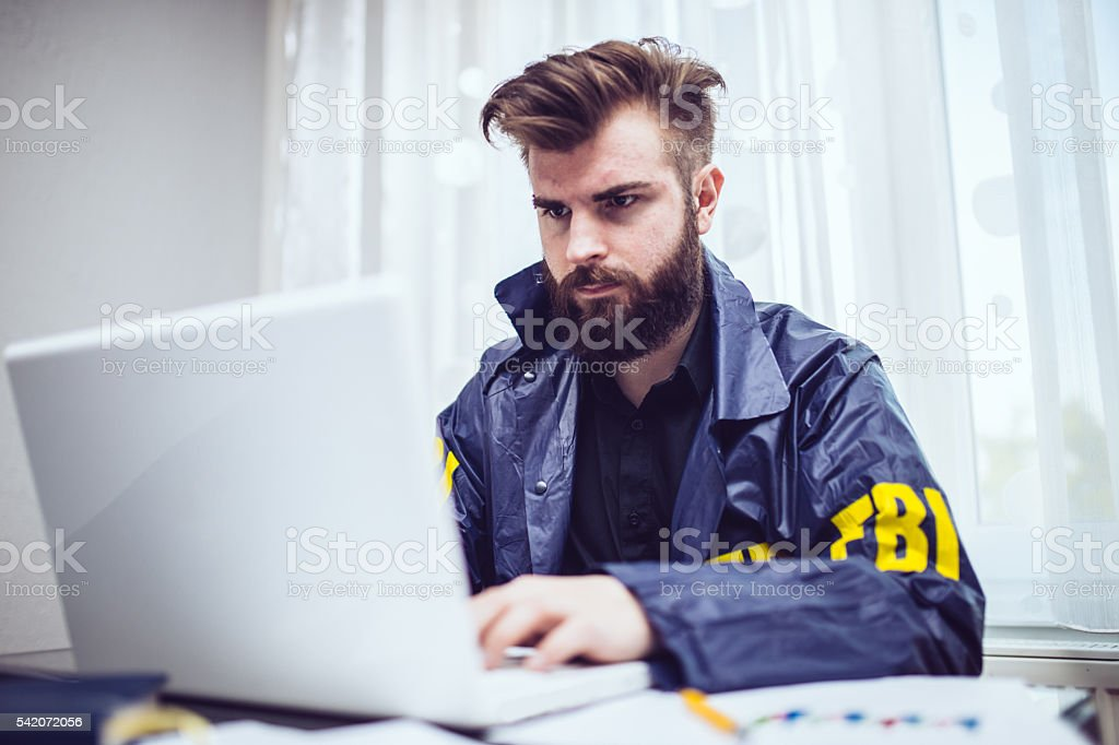FBI agent stock photo
