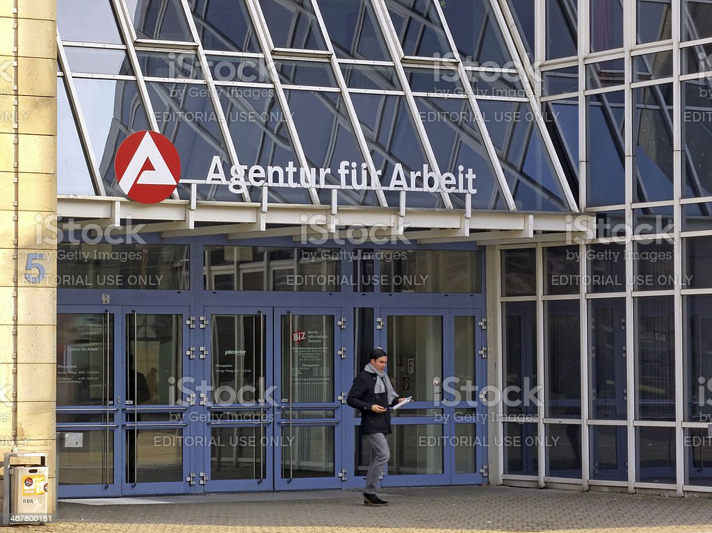 Agentur fuer Arbeit - employment center stock photo
