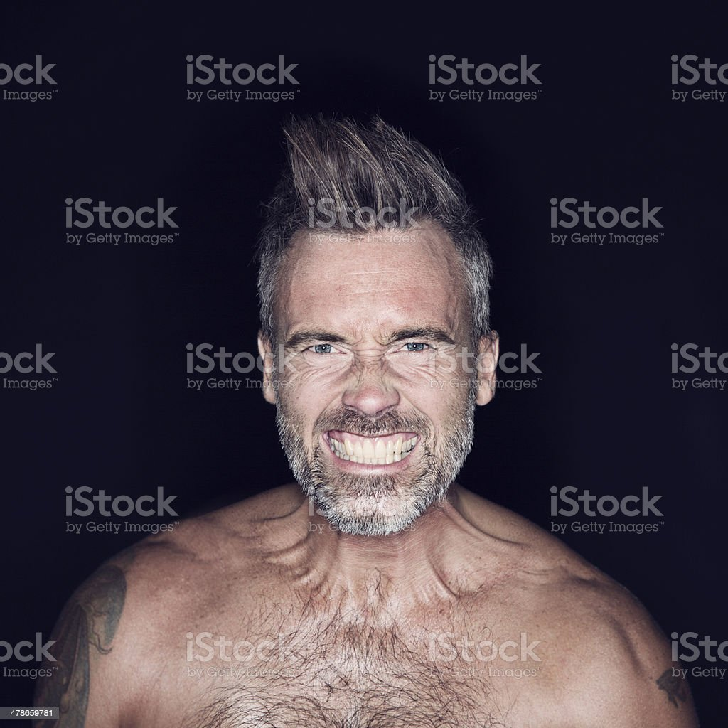 Aggressive and rugged royalty-free stock photo