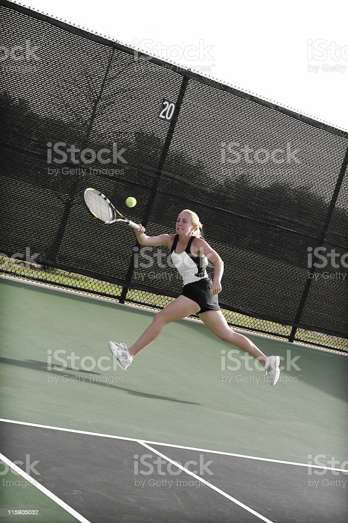 aggressive athlete royalty-free stock photo