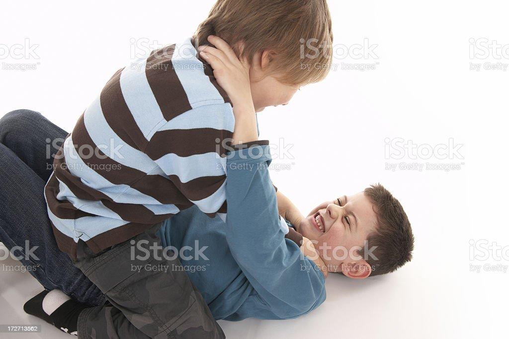 aggressive boys stock photo