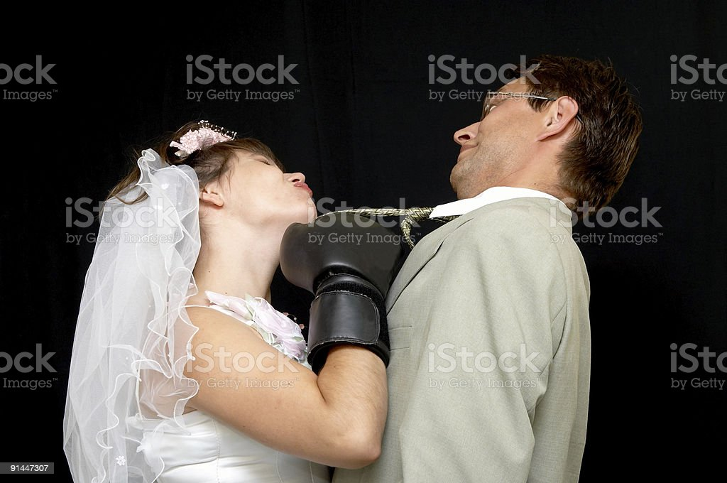 aggressive bride royalty-free stock photo