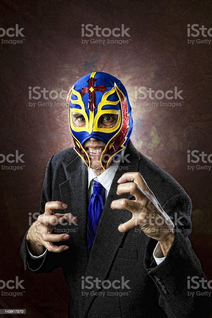 Aggressive Business Man stock photo