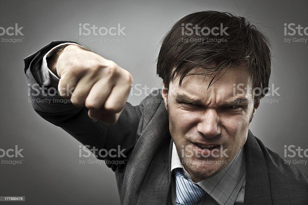 Aggressive businessman royalty-free stock photo