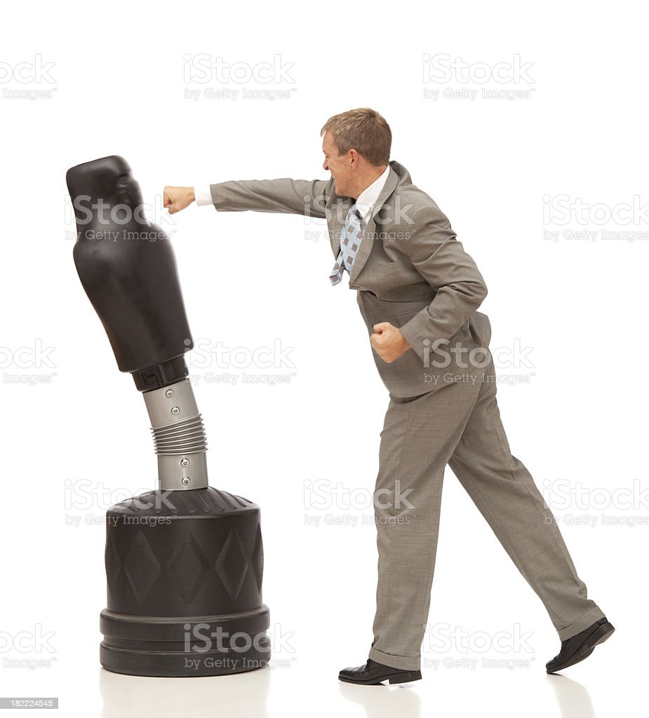 aggressive businessman with slight motion blur royalty-free stock photo