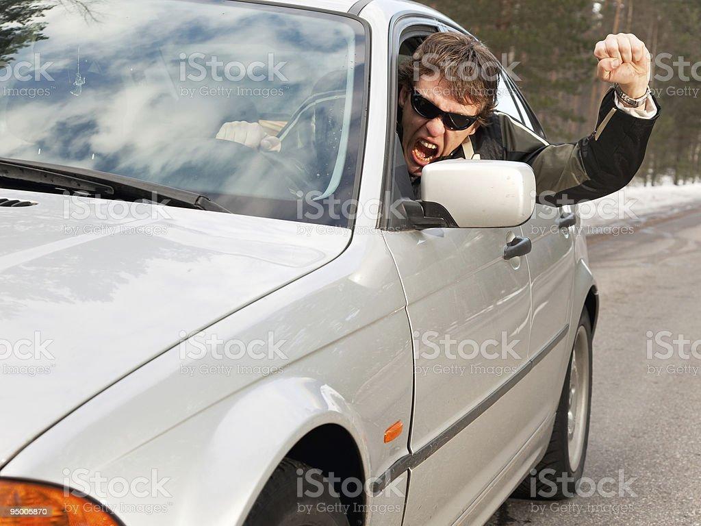 Aggressive driver royalty-free stock photo