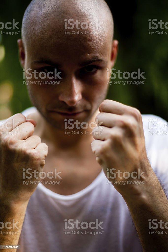 Aggressive fists stock photo