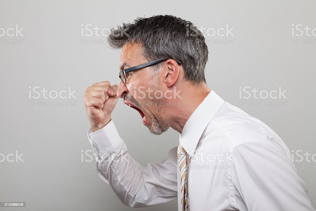 Aggressive Manager stock photo