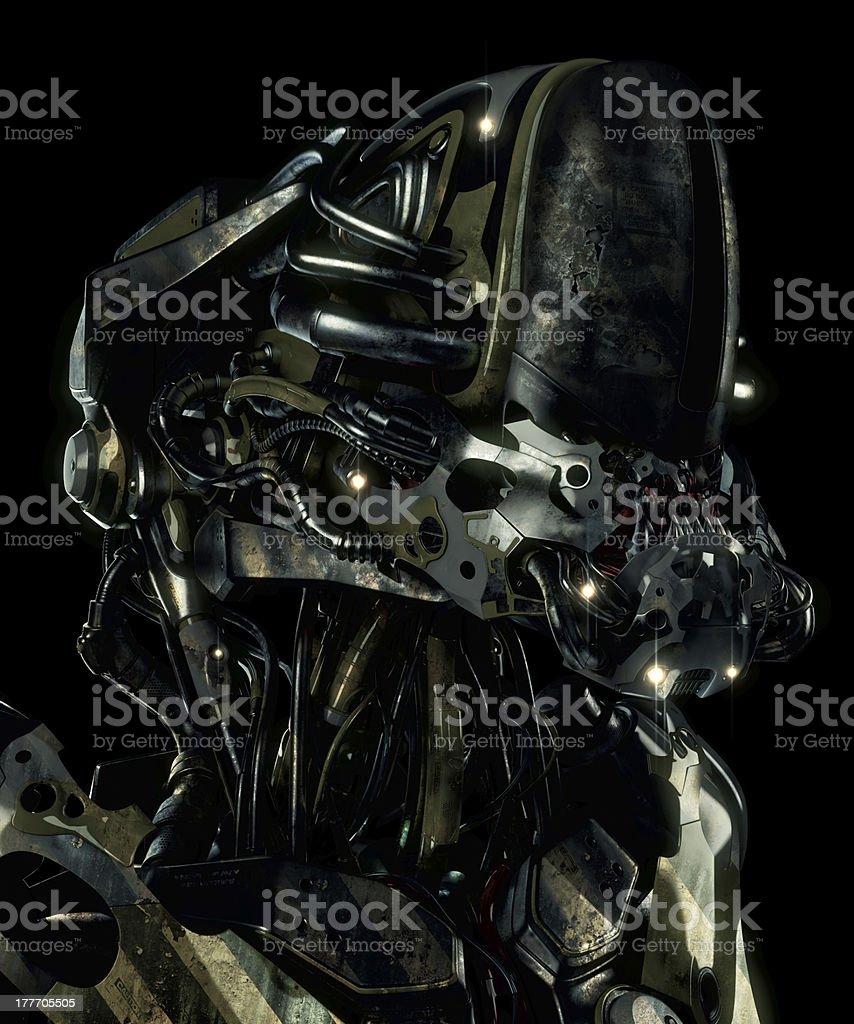 Aggressive rusty alien stock photo