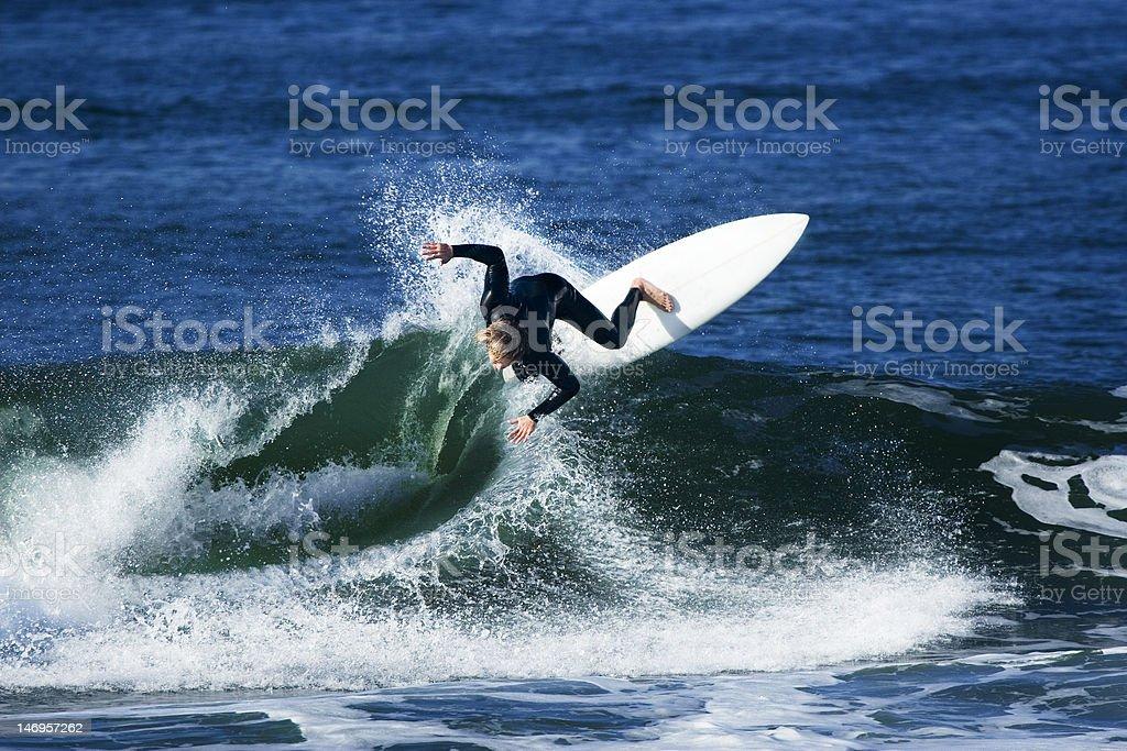 Aggressive Surfer royalty-free stock photo