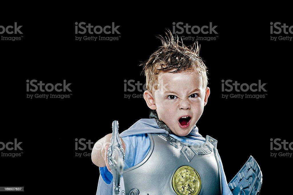 Aggressive Sword Boy royalty-free stock photo