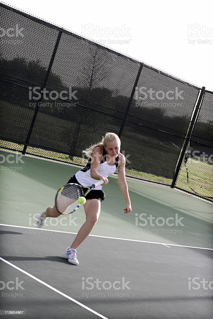 aggressive tennis royalty-free stock photo