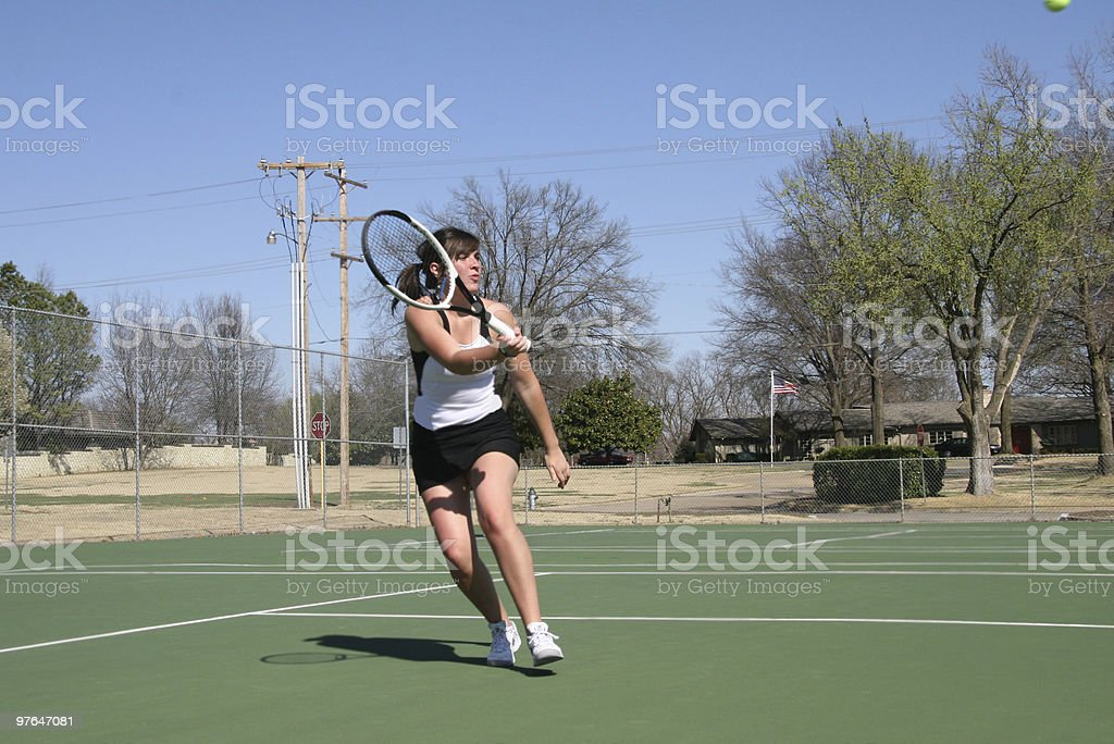 aggressive tennis stock photo