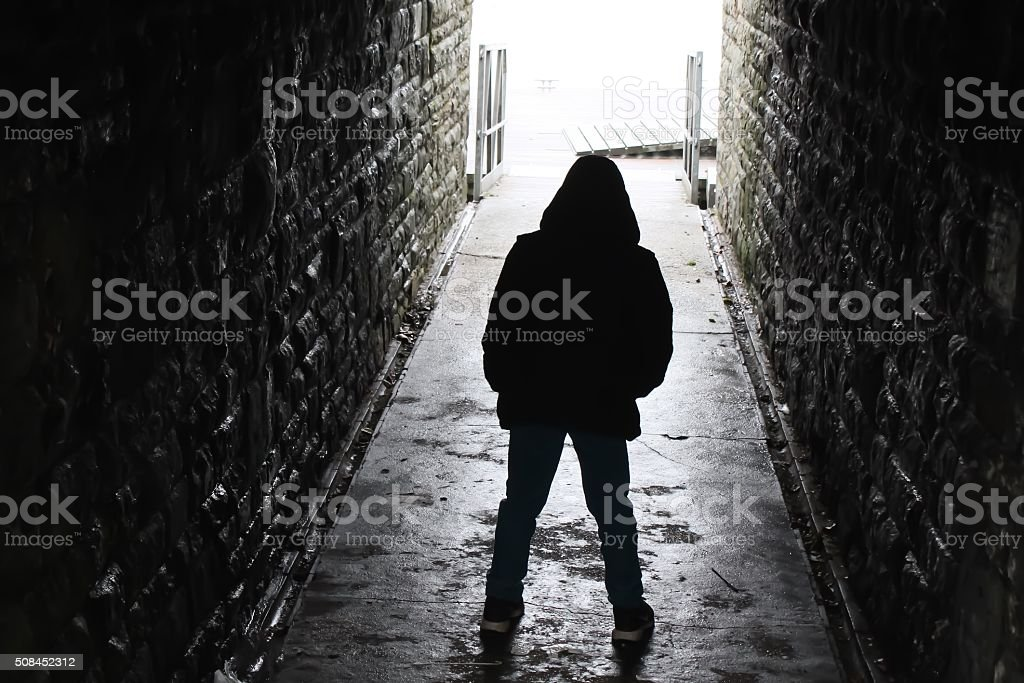 Aggressive underpass stock photo