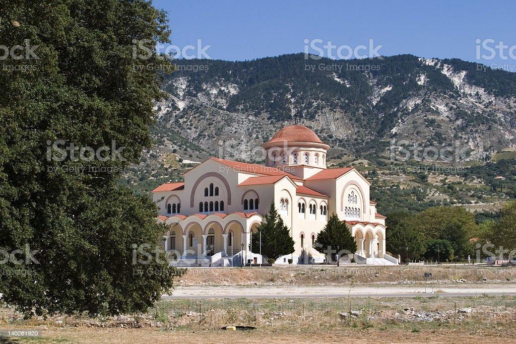Agh Gerasimou Monistary, Kefalonia, September 2006 royalty-free stock photo