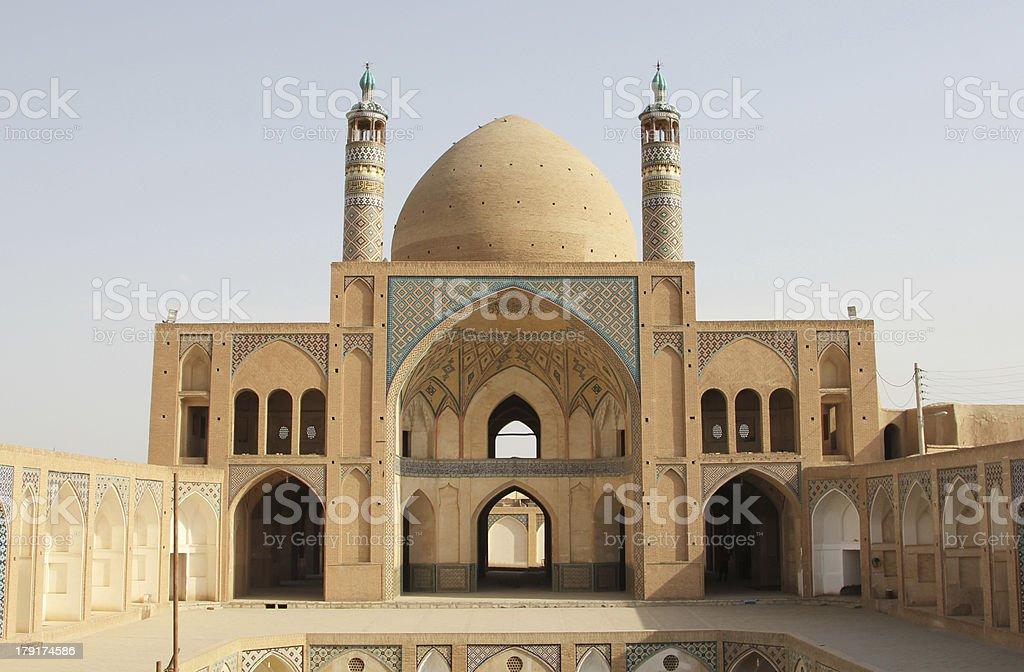 Agha Bozorg Mosque (Kashan, Iran) royalty-free stock photo