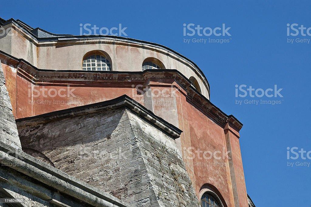 Aghia Sophia church detail stock photo