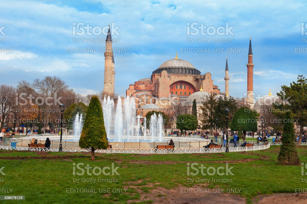 Aghia Sophia in Istanbul. stock photo