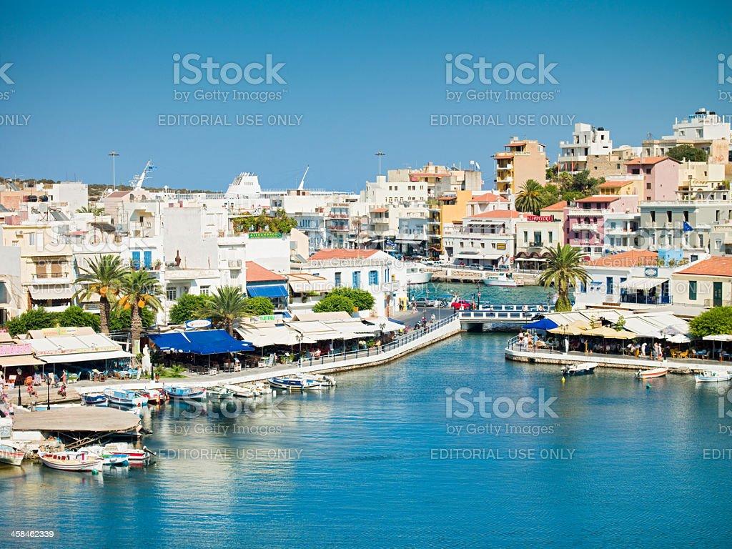 Aghios Nikolaos Crete Island, Greece stock photo
