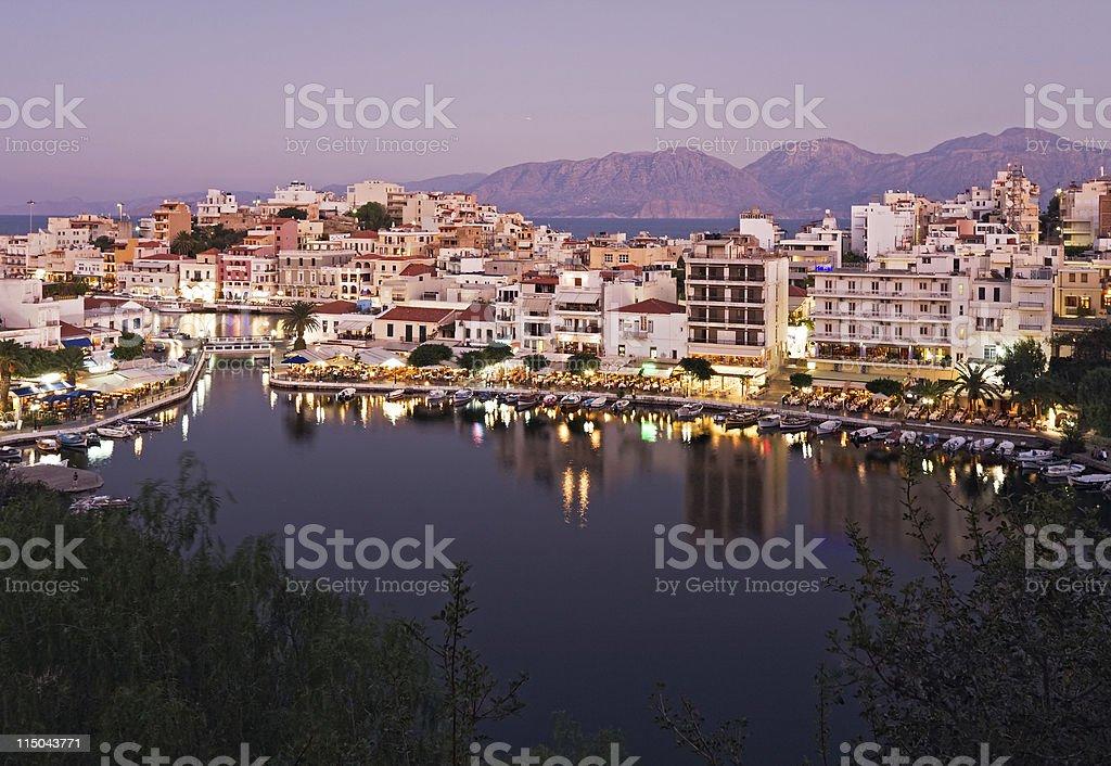 Aghios Nikolaos, Greece stock photo