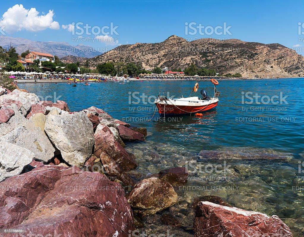 Agia Galini beach stock photo