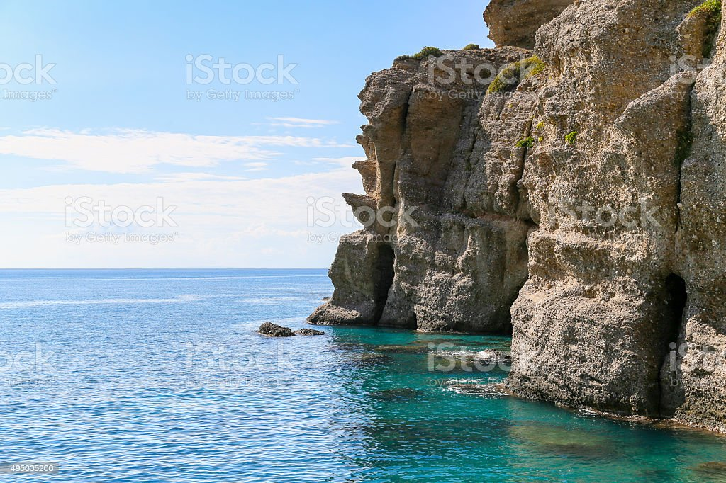 Agia Galini Cliffs stock photo
