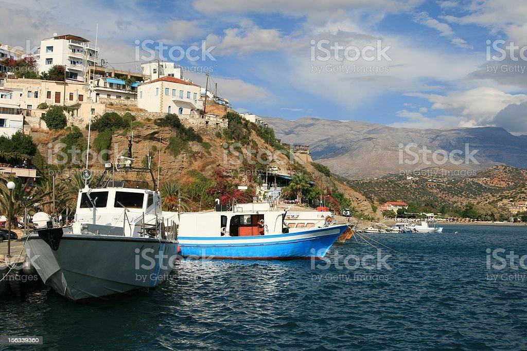Agia Galini harbour - Crete Island, Greece stock photo