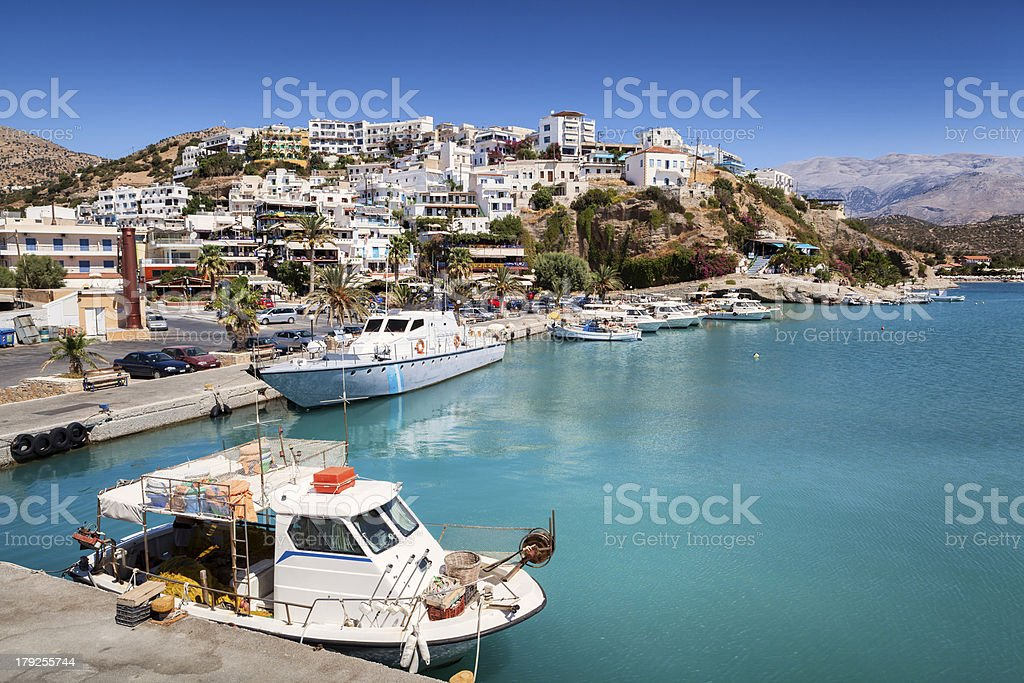 Agia Galini harbour in Crete, Greece royalty-free stock photo