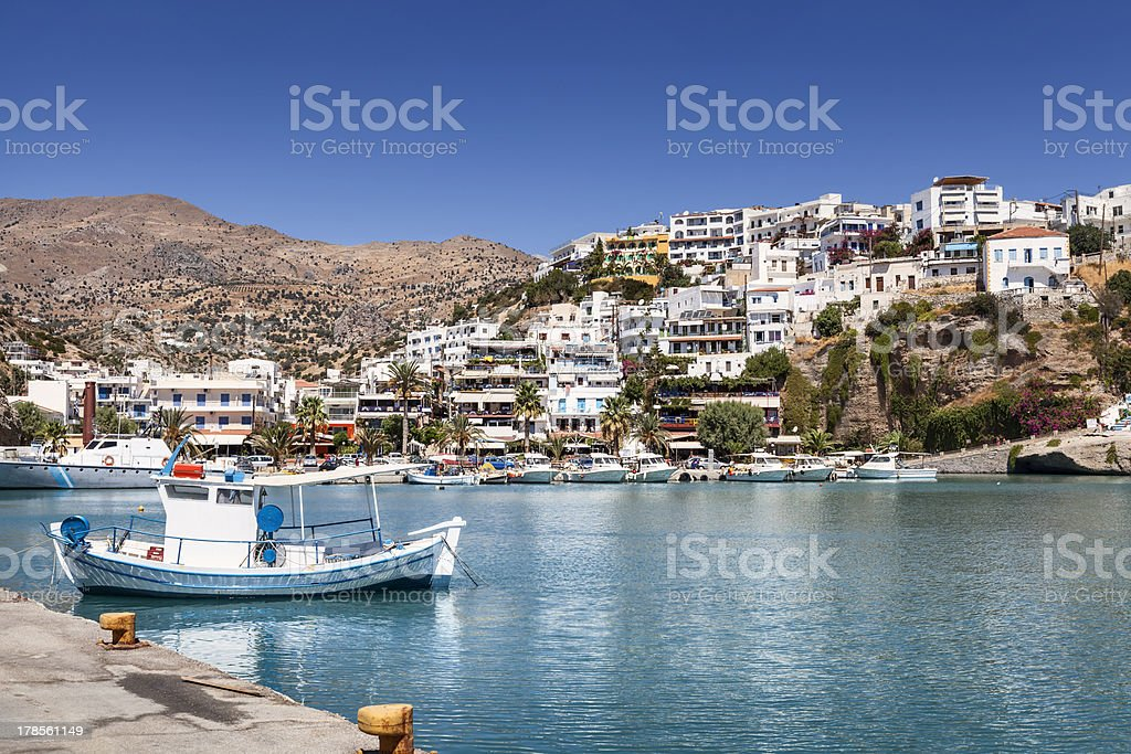 Agia Galini in Crete (Greece) royalty-free stock photo