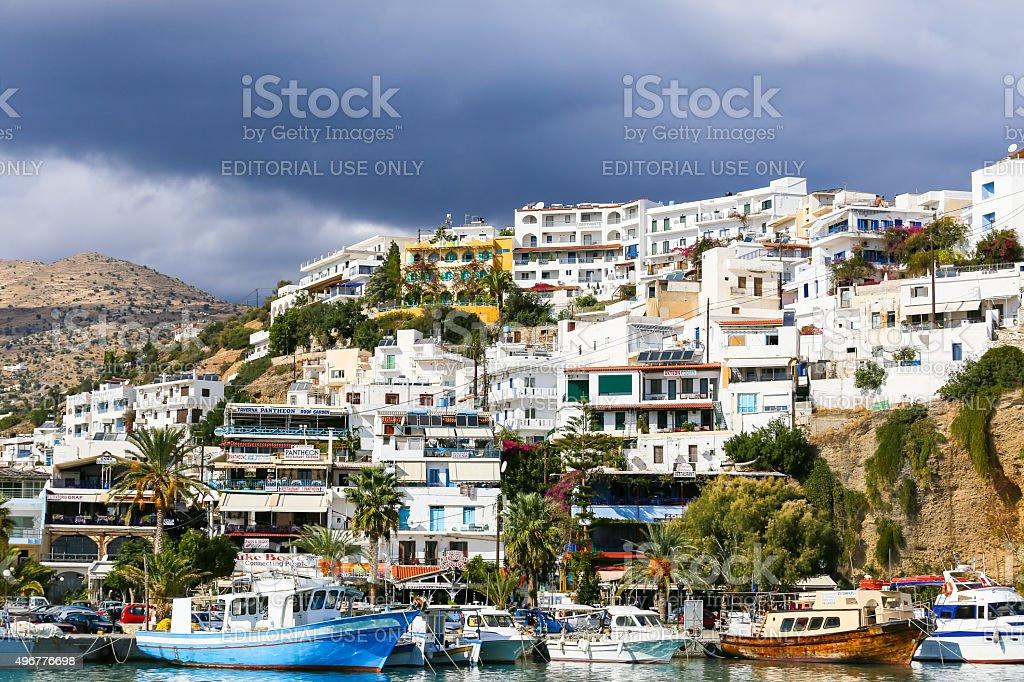 Agia Galini in Greece stock photo