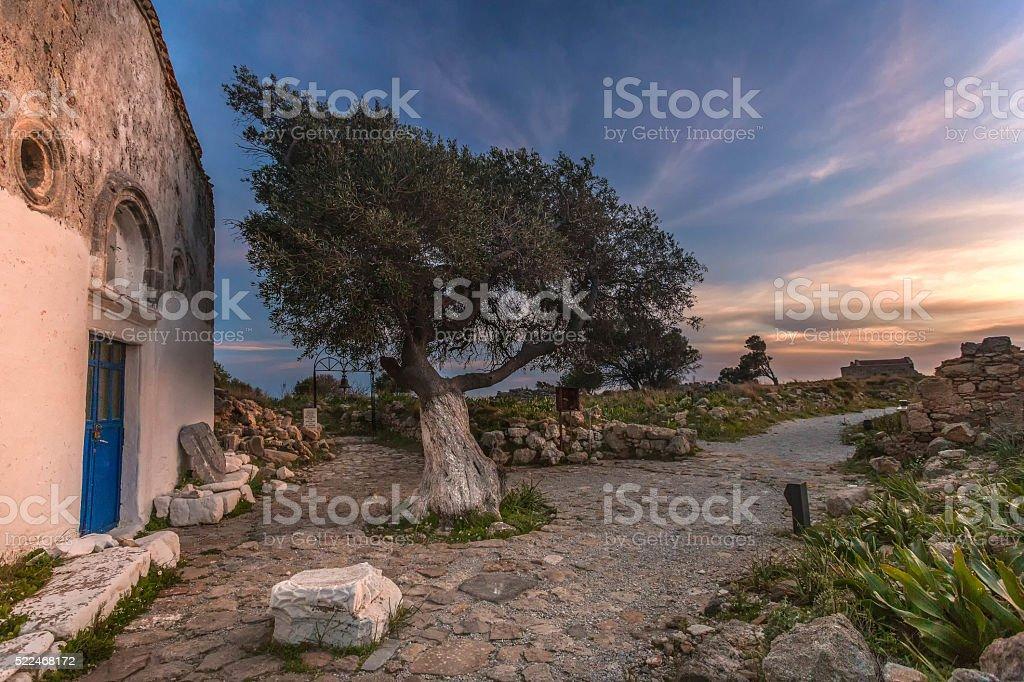 Agia Paraskevi Church, Castle of Antimachia, Kos island, Greece stock photo