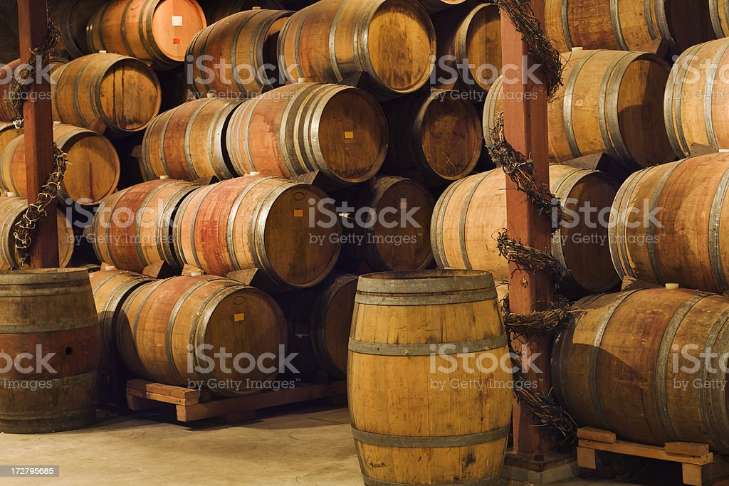 Aging Cellar in Napa Valley royalty-free stock photo