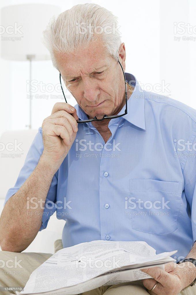 Aging process eyesight troubles stock photo