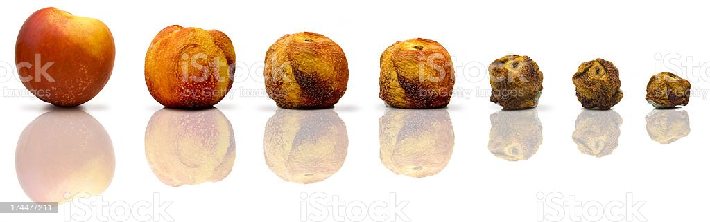 Aging process stock photo