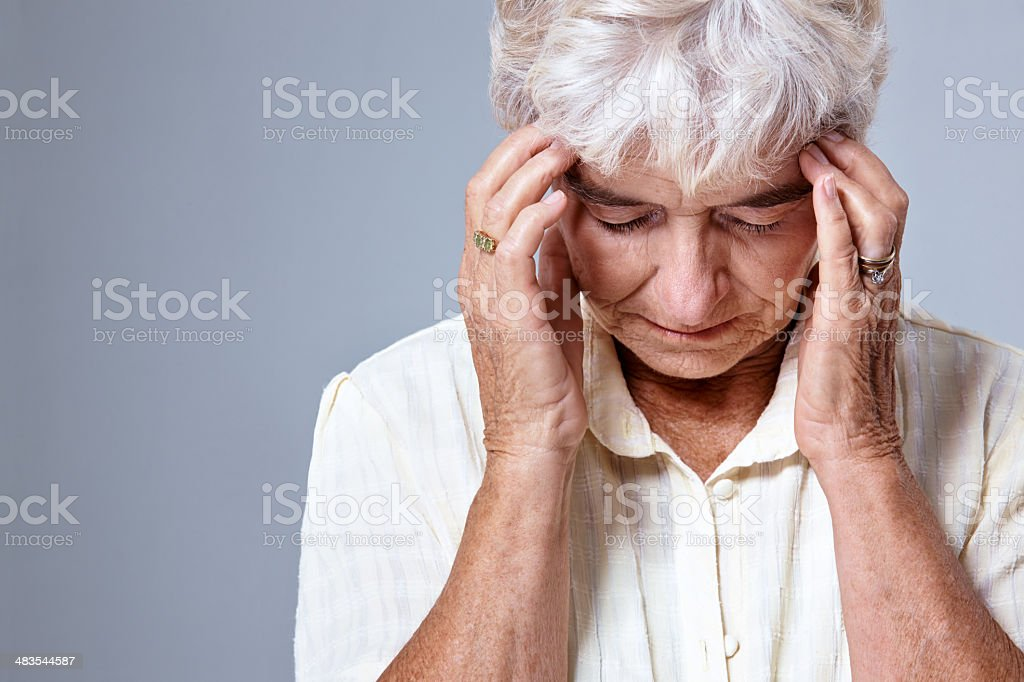 Aging unhealthily royalty-free stock photo