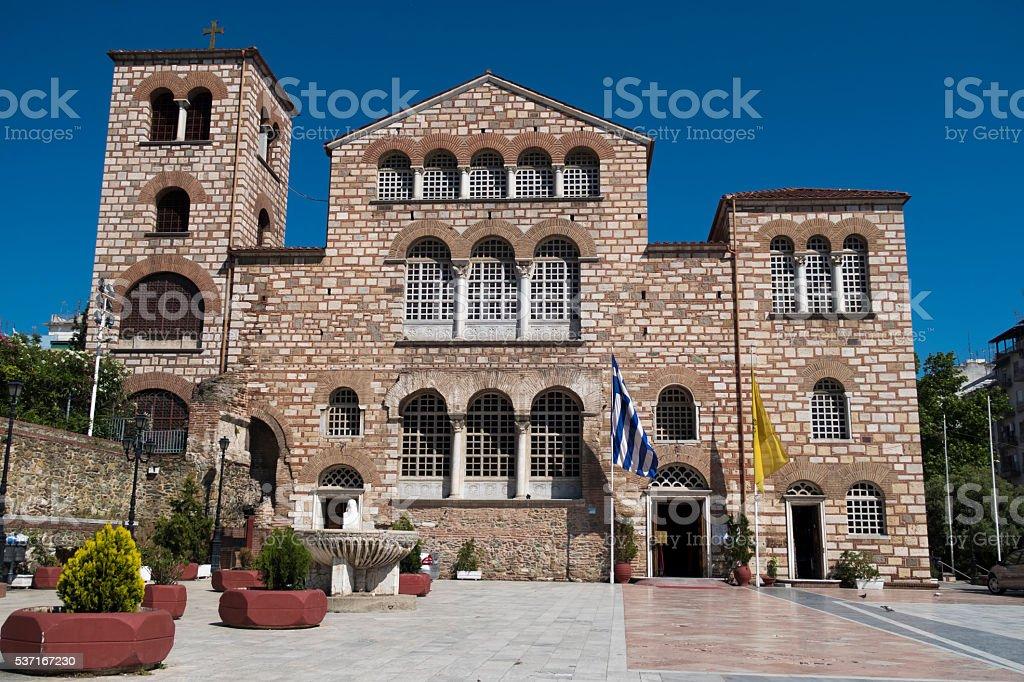 Agios Dimitrios (Saint Dimitrios) church – Thessaloniki, Greece. External view of the church. stock photo
