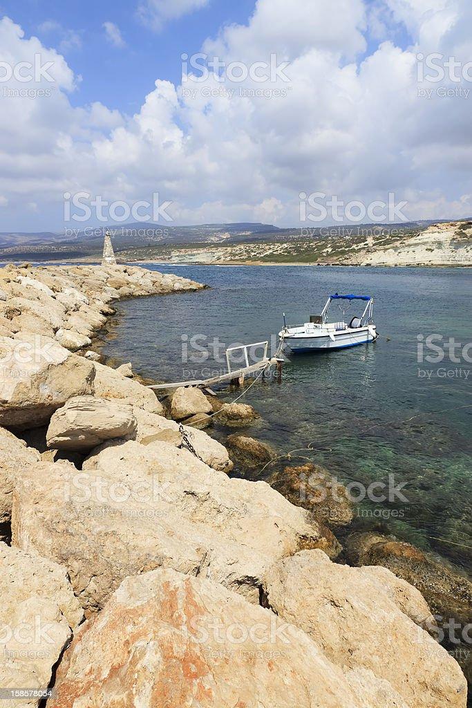 Agios Georgios pier, Paphos area, Cyprus royalty-free stock photo