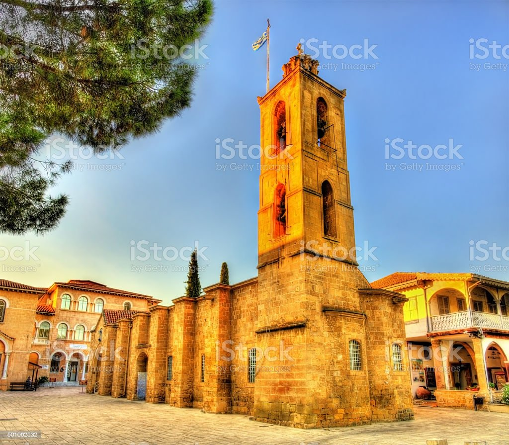 Agios Ioannis church in Nicosia - Cyprus stock photo