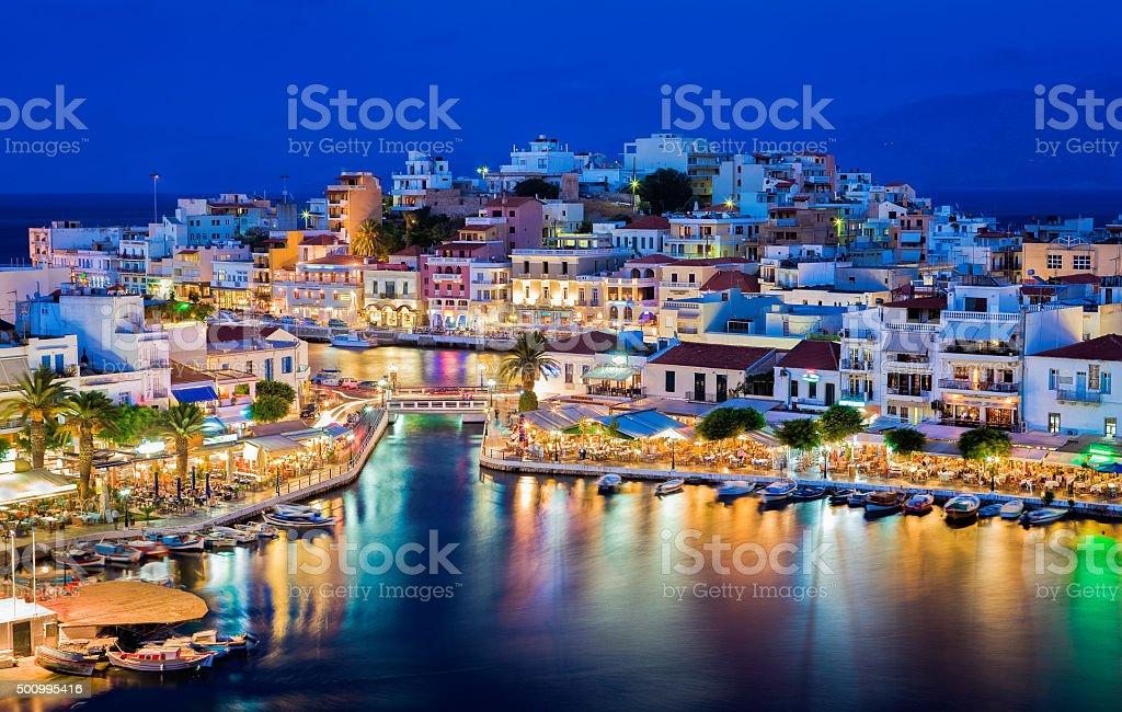 Agios Nikolaos, Crete, Greece stock photo