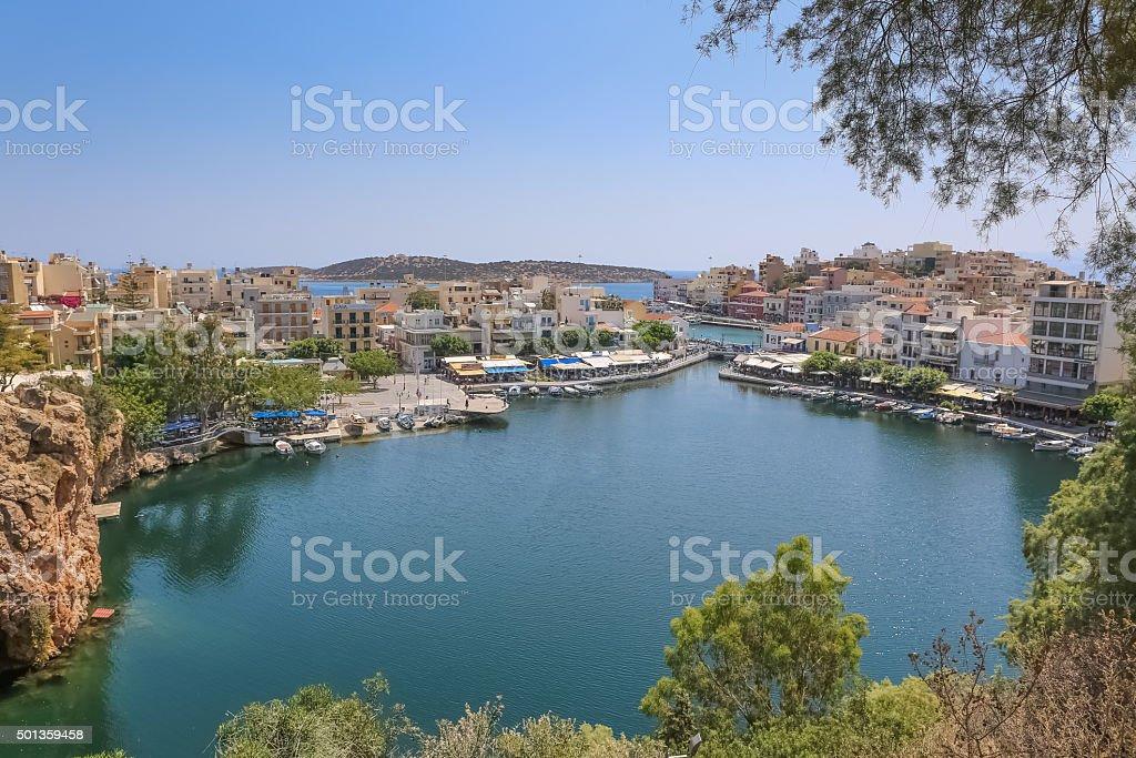 Agios Nikolaos Crete Greece stock photo