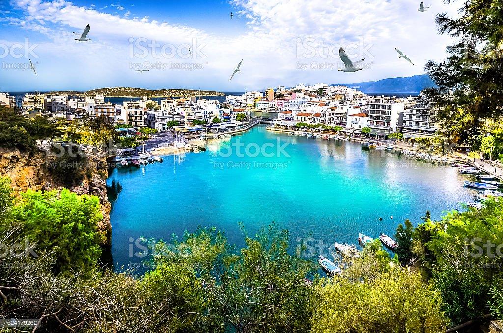 Agios Nikolaos, Crete stock photo