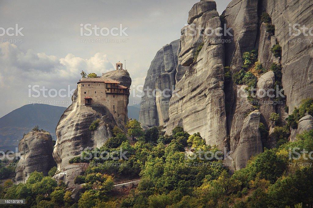 Agios Nikolaos Monastery, Meteora stock photo