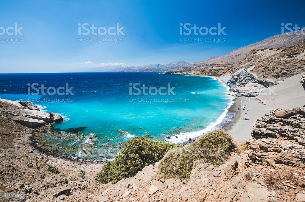 Agios Pavlos Beach in Crete island, Greece. stock photo