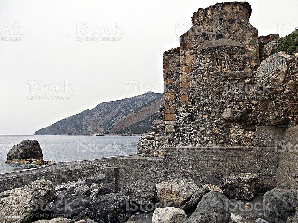 Agios Pavlos church stock photo