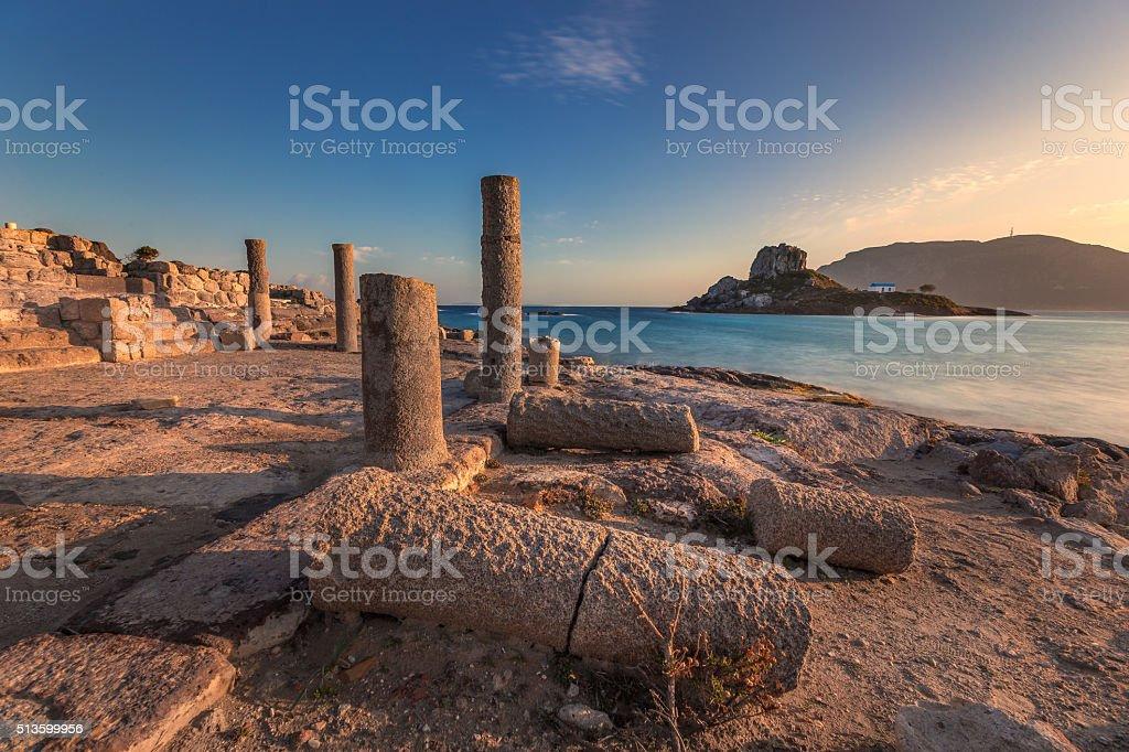 Agios Stefanos Basilica, Kefalos, Kastri island, Kos, Greece stock photo
